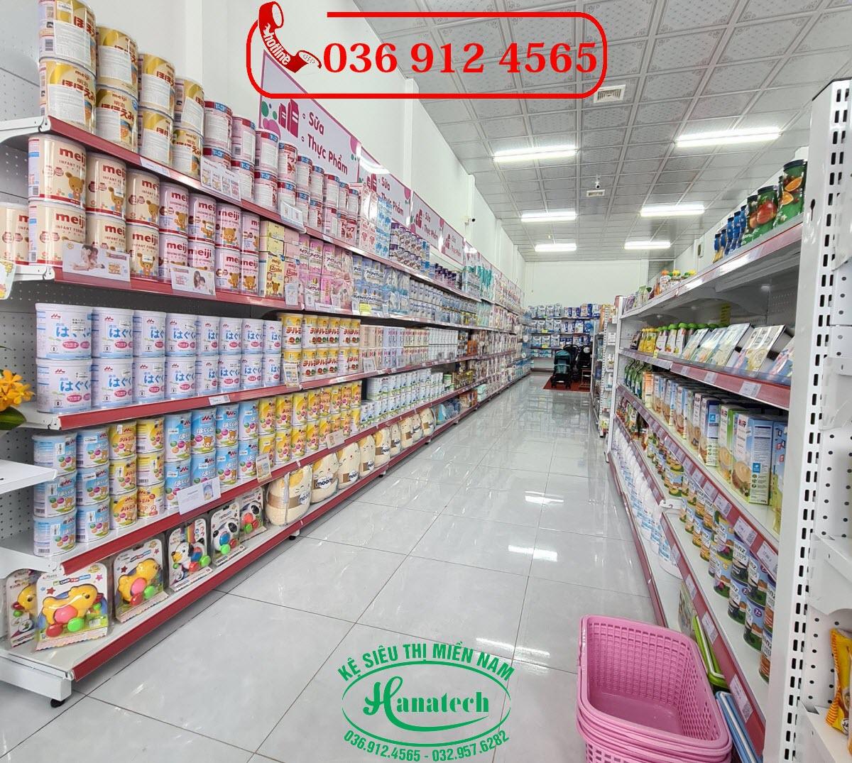 Giá kệ trưng bày sữa tại Tây Ninh