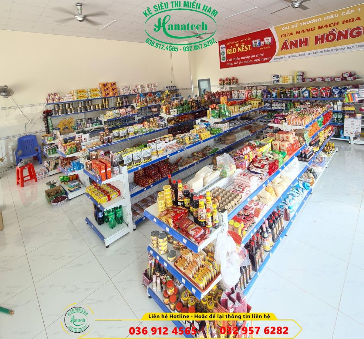 Giá kệ cửa hàng tạp hóa tại Tây Ninh
