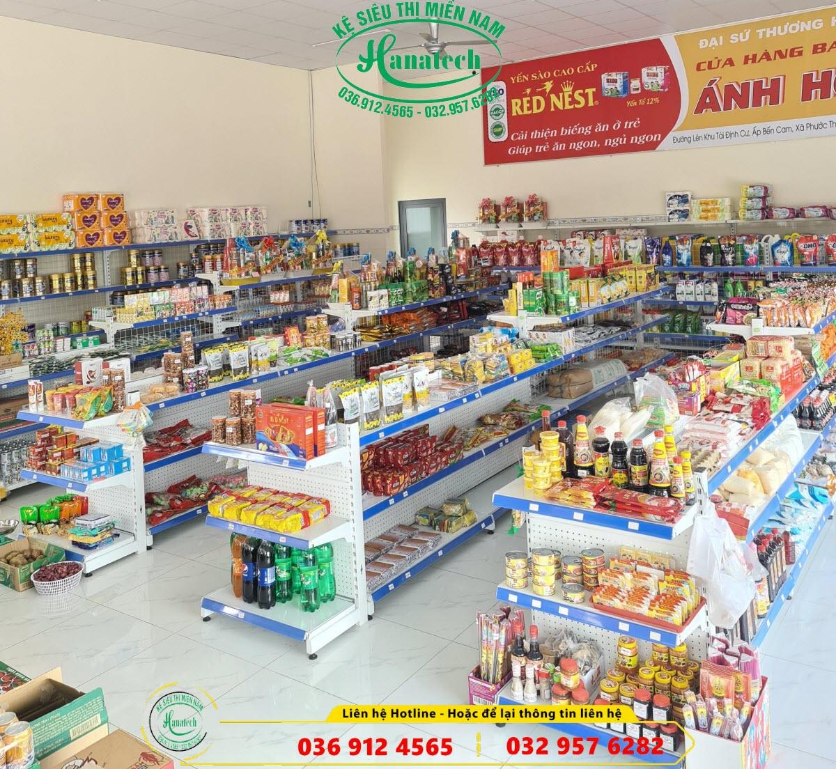 Giá kệ siêu thị mini tại Tây Ninh