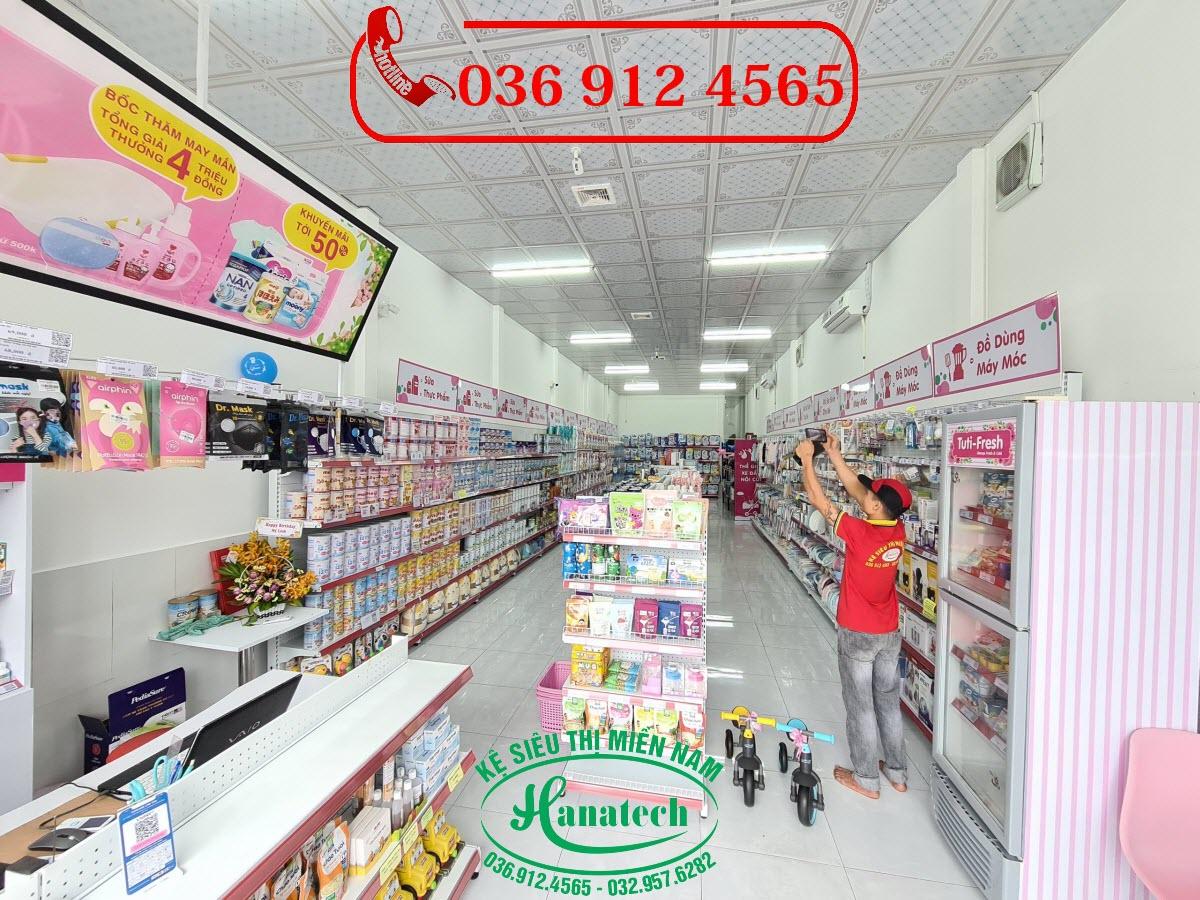 Giá kệ siêu thị cho shop mẹ và bé tại Tây Ninh