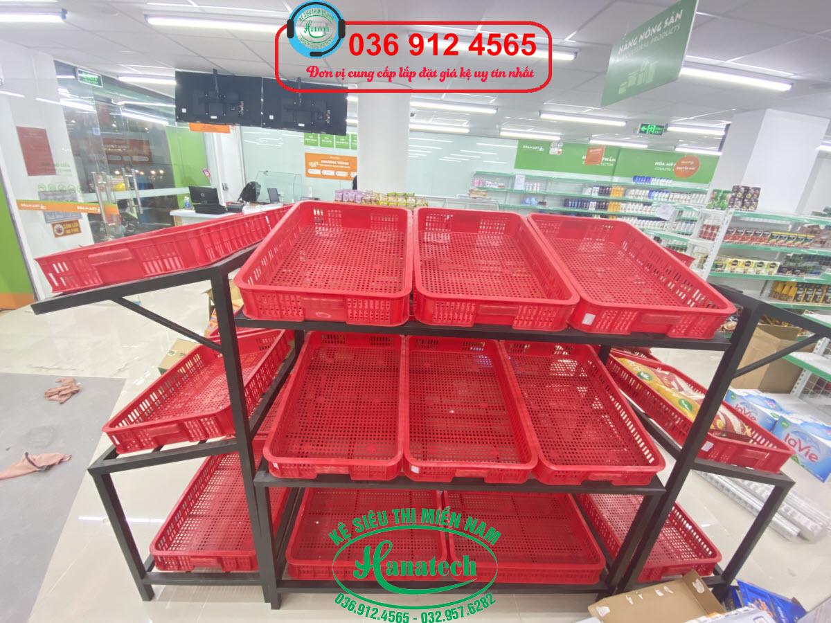 Giá kệ trưng bày rau củ quả trái cây tại Tây Ninh