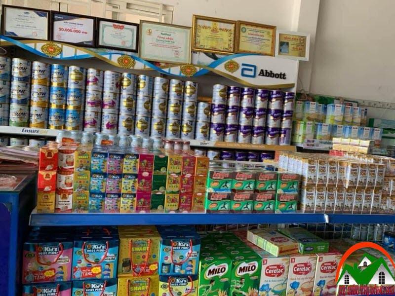 Kệ trưng bày sữa tại Đồng Nai